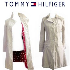Vintage Tommy Hilfiger Fitted Trench Coat Jacket